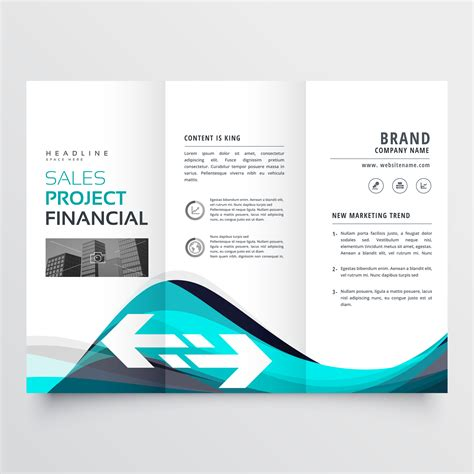 Awesome Tri Fold Brochure Design by Awesome Blue Trifold Business Brochure Leaflet Flyer