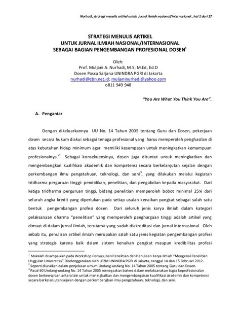 membuat jurnal makalah cara membuat artikel jurnal ilmiah contoh jurnal ilmiah