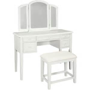 White Vanity Set Kohls Vanity With Tri Fold Mirror And Bench Colors