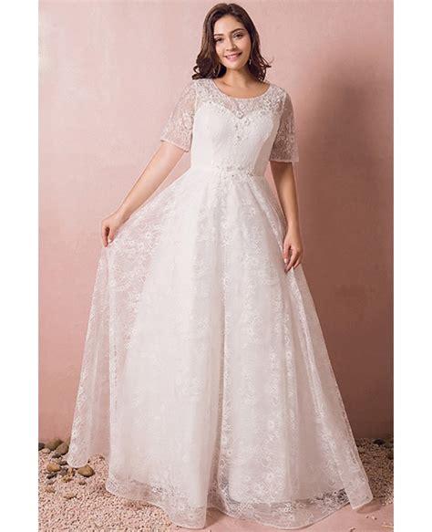 beading for wedding dresses modest lace short sleeve plus size wedding dress with
