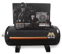 mi t m ads series 120 gal simplex horizontal air compressor
