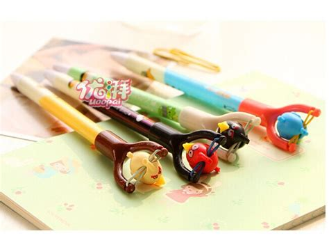 Laser Pointer Imut slingshot toys angry bird pen school supplies pulpen