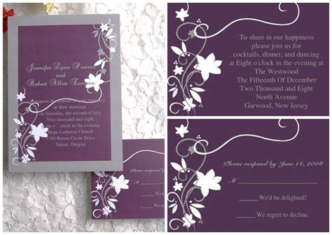 cheap rustic floral plum wedding invitations EWI001   Weddings, Plum wedding invitations and