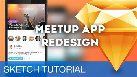 sketchbook ios tutorial sketch 3 tutorial meetup app redesign ios sketchapp