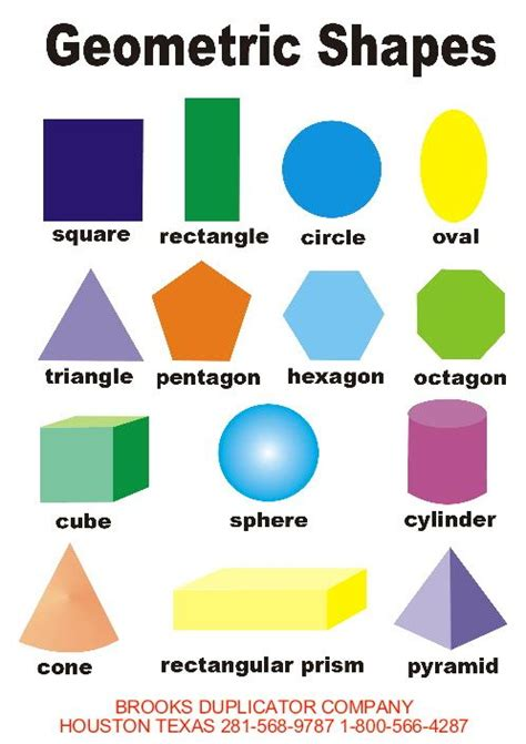 printable math shapes charts shapes for kids printable geometric shapes for children