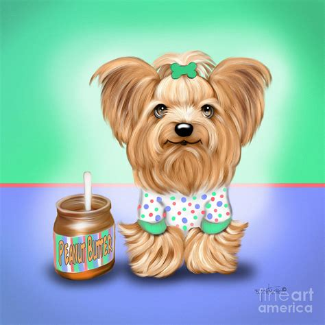 yorkie peanut butter peanut butter lover painting by catia cho