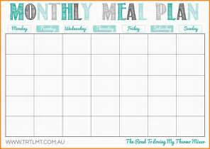 lunch calendar template 8 meal planning calendar letter format for