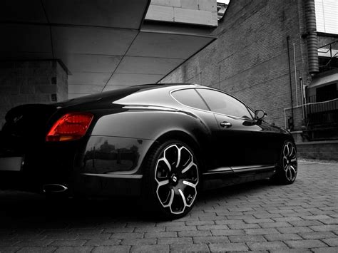 black bentley back bentley continental gt black rear