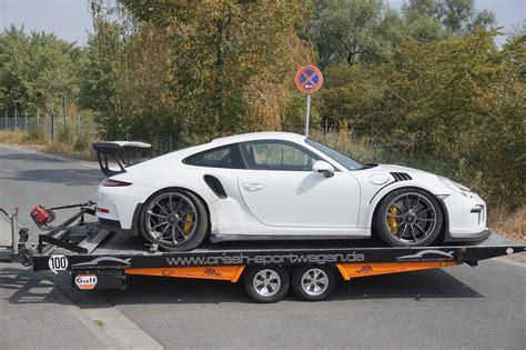 Porsche Crash by 2016 Porsche 911 Gt3 Rs Has Crash Shows Signs Of