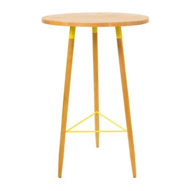 Yellow Bar Table High Tables Furniture Exhibition Conference White Marquee