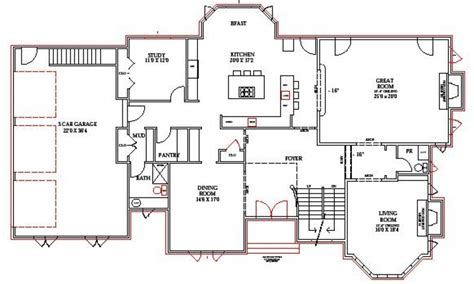 blueprints for homes lake home floor plans lake house plans walkout basement