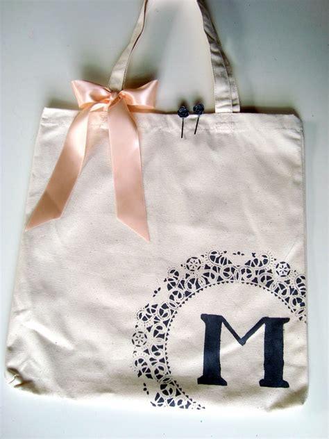 monogram canvas tote  beautiful diy bridesmaid gifts