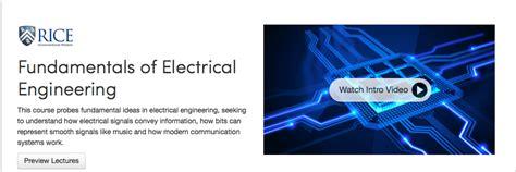 online tutorial electrical engineering learn electrical engineering 50 top online courses books