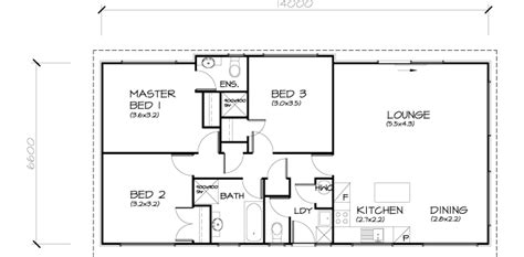 Two Storey Floor Plan 3 bedroom transportable home 97sqm