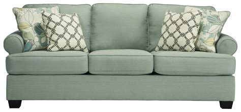 ashley furniture couch cushions ashley signature design daystar seafoam contemporary
