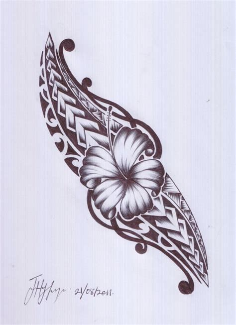 island flower tattoo designs a and maori design i would this in oblique