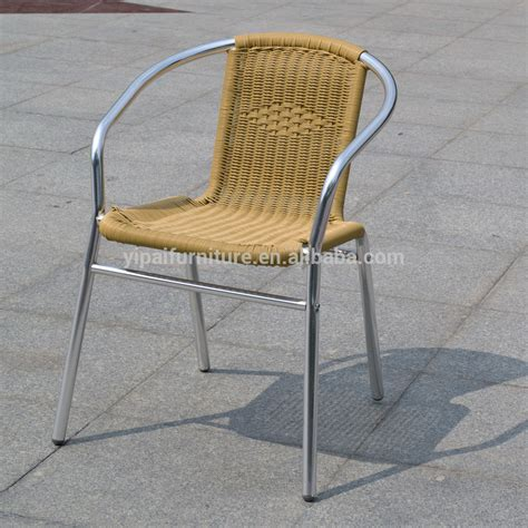 cheap outdoor furniture chair rattan with metal legs