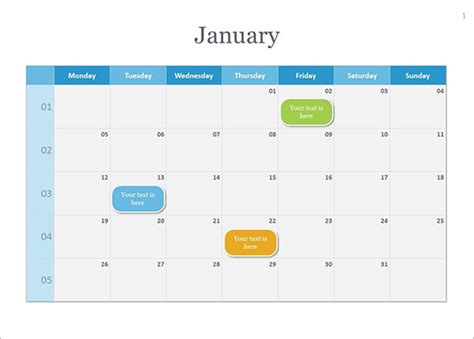 calendar template for powerpoint calendar template 41 free printable word excel pdf