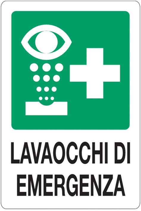 pronto doccia cartelli di primo soccorso standard lavaocchi di