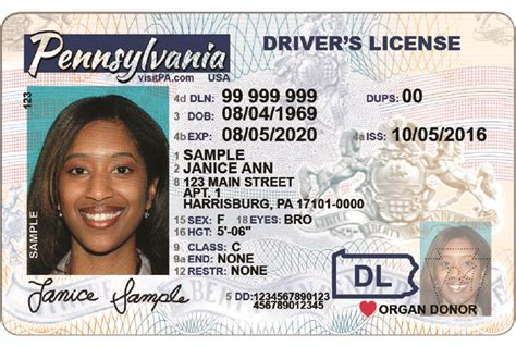 pennsylvania license image gallery pennsylvania id