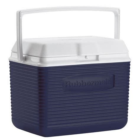 rubbermaid 10 qt blue chest cooler fg2a1104modbl