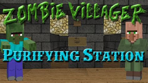 zombie villager tutorial minecraft zombie villager purifying station tutorial
