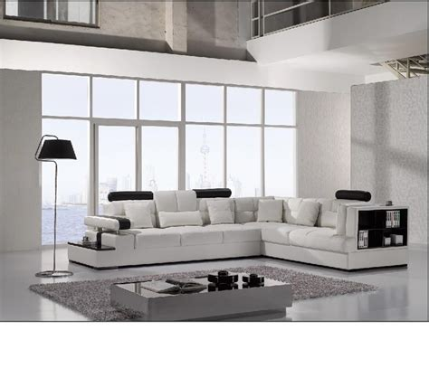 Modern Leather Sectional Sofas Dreamfurniture Divani Casa T117 Modern Leather Sectional Sofa