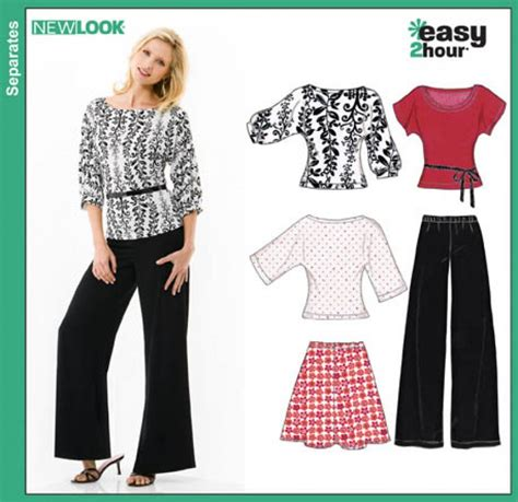 new look 6890 misses easy 2 hour pullover dress or mini new look 6816 misses easy two hour skirt pants and