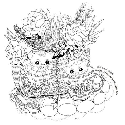 secret garden colouring book whsmith coloriage coloriage chat