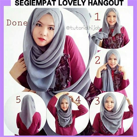 tutorial hijab paris with headband tutorial hijab by dheashiendra matt segiempat paris