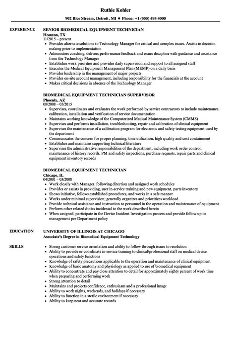 biomedical engineering resume sles biomedical repair sle resume sarahepps
