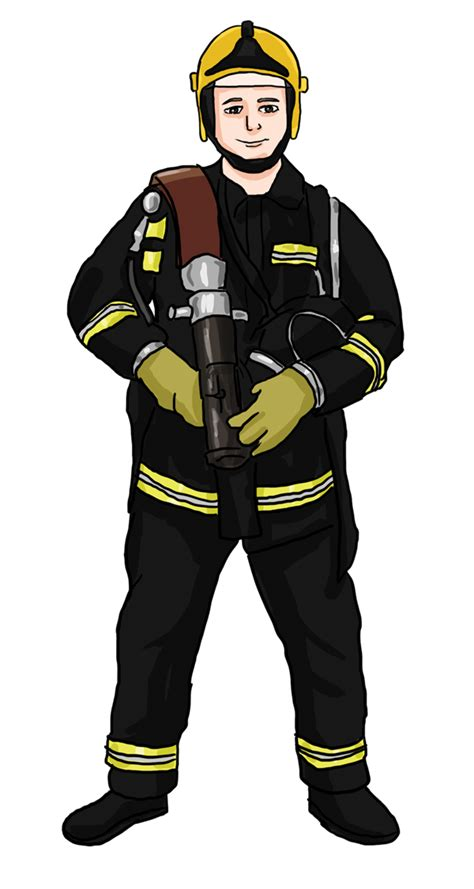 firefighter clipart firefighter clipart transparent pencil and in color
