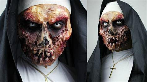 zombie sfx tutorial zombie nun with sfx gelatin makeup tutorial 31 days of