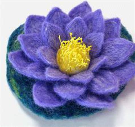 pattern felt water lily felting pattern and templates felting