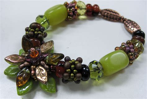 bead pressed glass bead jewelry