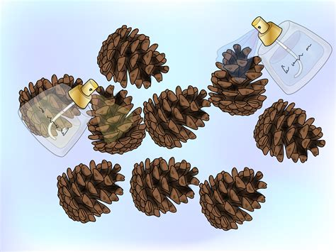 how to make christmas tree pine cones with pictures