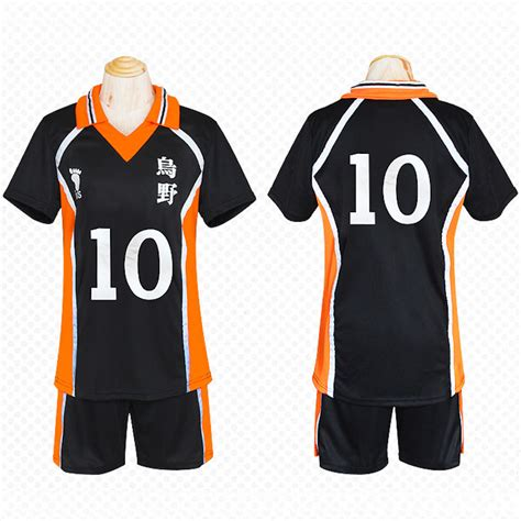 T Shirt Anime Haikyuu Karasuno Club unicorn haikyuu jersey no 10 hinata shyouyou costume unisex t shirt karasuno high