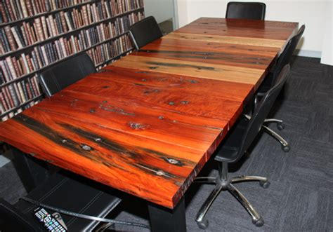 Railway Sleeper Furniture Australia by Rustic Solid Timber Boardroom Tables Made From Reclaimed