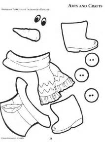 snowman cut out template 6 best images of printable parts patterns free