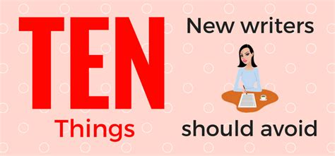 10 Dating You Just To Avoid by 10 Things You Should Avoid As A New Writer Or Author