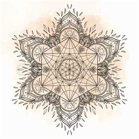 decorative mandala round pattern with sacred geometry