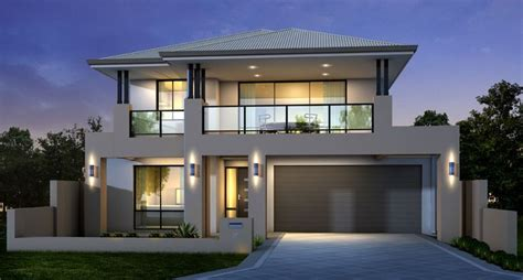 home design story ideas contemporary double storey home design idea with