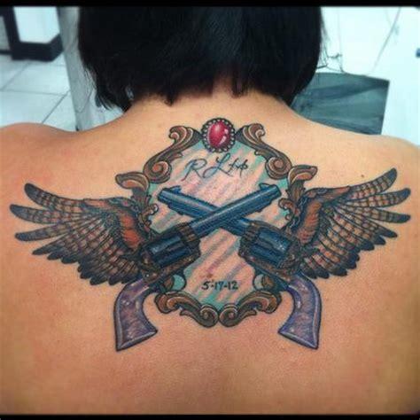 tattoo angel with guns tattoos custom pistols guns wings tattoo tattoo ideas