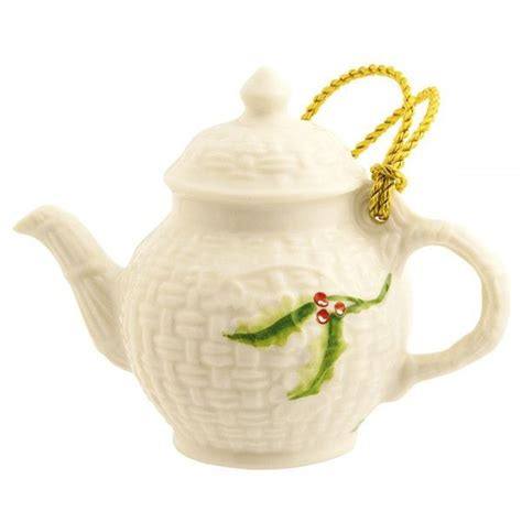 miniature teapot christmas ornament by belleek