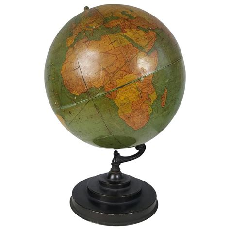 Vintage World Globe L deco antique world globe richard e byrd globe barowe