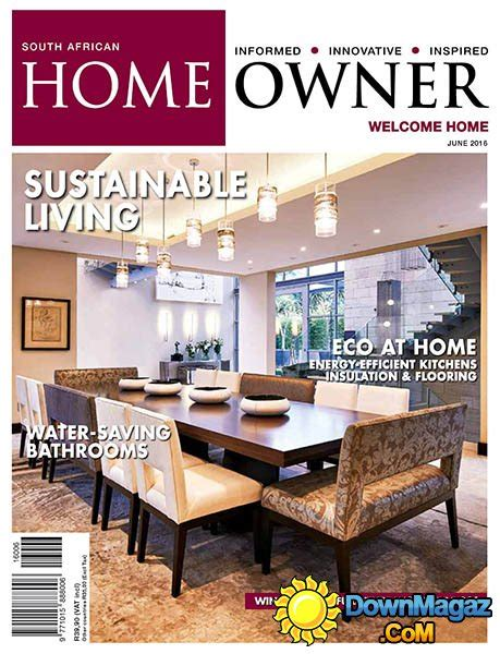 home decor magazines south africa south african home owner june 2016 187 download pdf