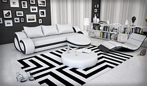 Recamiere Modern 290 by Eck Sofa Mit Led Beleuchtung Und Kunstleder Bezug Wei 223