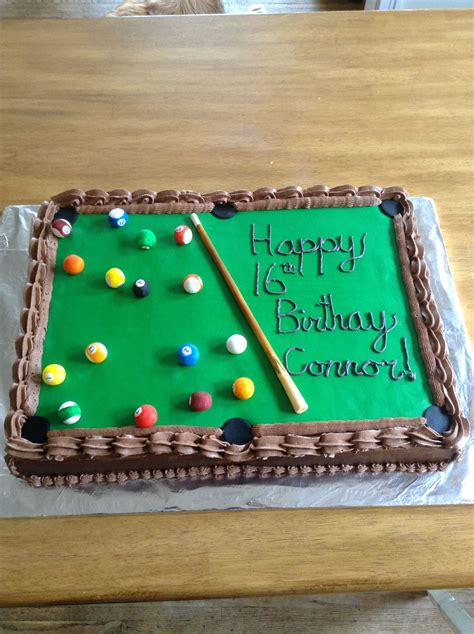 pool table cake pool table birthday cake cakes that i made in 2019