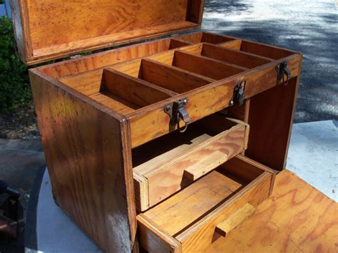 Handmade Wooden Chest - rustic wooden tool box handmade tool chest