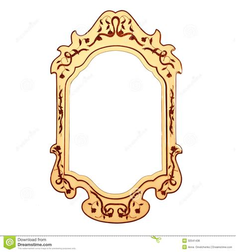 Bella Home Decor by Empty Vintage Mirror Frame Royalty Free Stock Image
